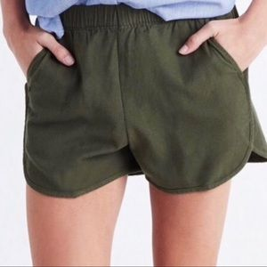 Madewell Army Green Pull On Shorts Size XXS